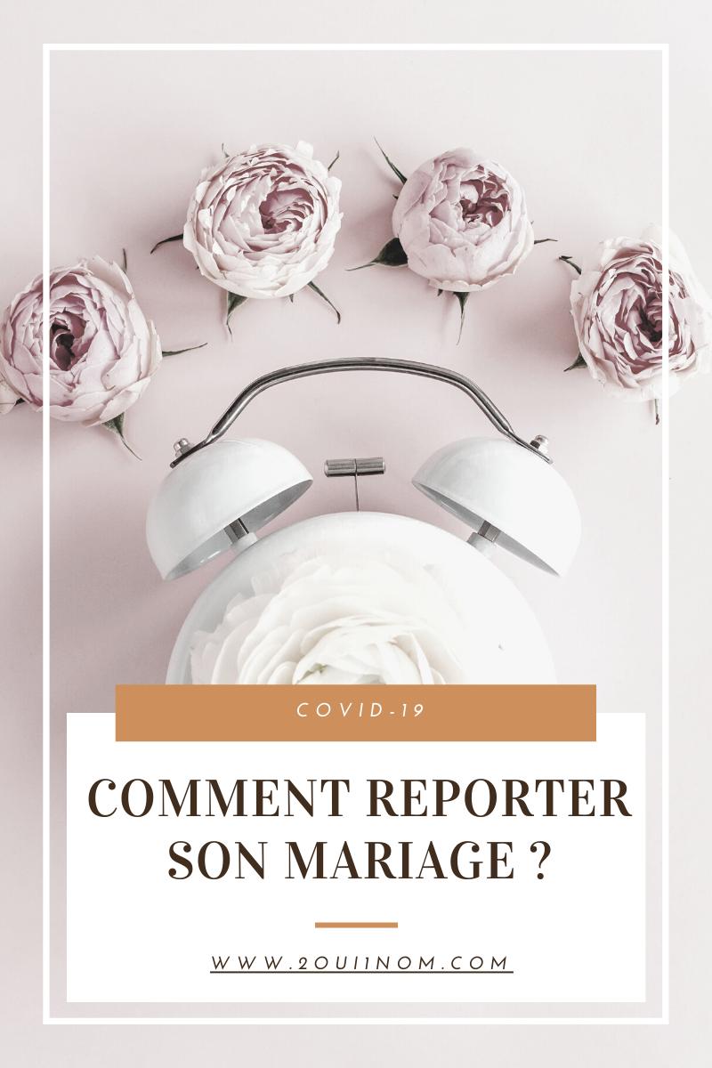 Comment bien reporter son mariage ?